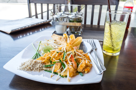 Phad Thai  Stir Fried Noodle with Shrimp  photo