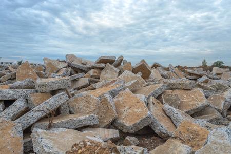 Concrete ruins. photo