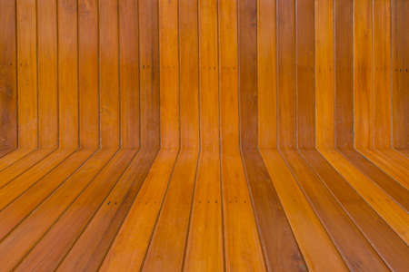 Wood floors and walls are made of wood texture . photo