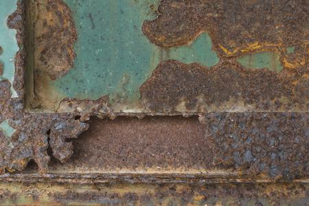 oxidized: Superficie de metal oxidado