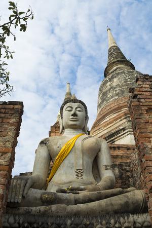 paper sculpture: Buddha statue, ayutthaya Thailand