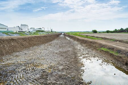 Soil drought cracked