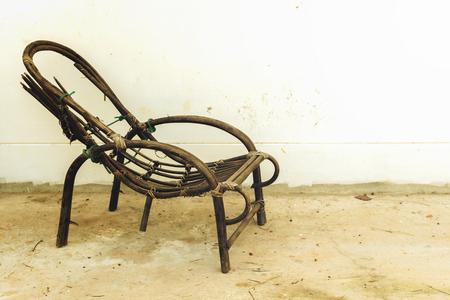 broken chair: Old broken chair, sepia style