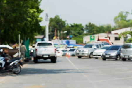 car park: Car park blurred background, Outdoor Parking