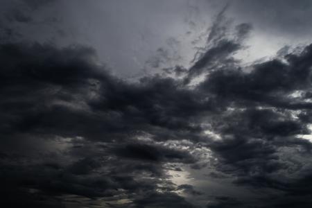 noir orage de nuage dans le ciel immense Banque d'images