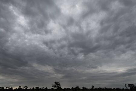 black cloud rainstorm in the vast sky