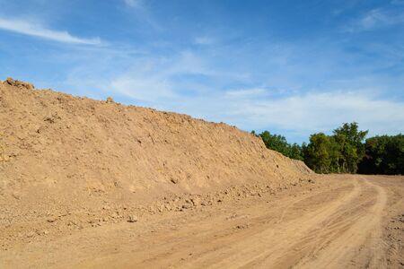 mound and road landscape.