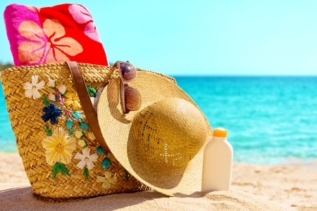 Beach necessities at the sunny beach