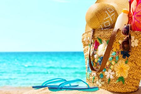Beach and sea elements,at the sunny sea  photo