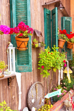 Close up of a traditional mediterranean house  Stock Photo