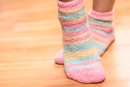 Close up of a colorful soft socks Banco de Imagens - 30755037