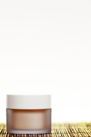 Skincare cream isolated on white background. photo