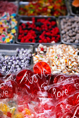 Colorful candies and sweets. photo