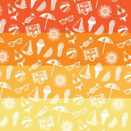 Summer pattern. Summer elements collection. Vector Illustration. Illustration