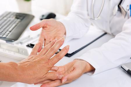 a medical examination: Close up of rheumatism  arthritis medical examination.