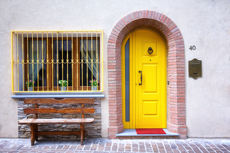 Colorful entrance of a house.