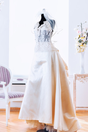 Wedding dress model. Banco de Imagens