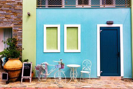 Beautiful mediterranean house exterior decoration. Banco de Imagens