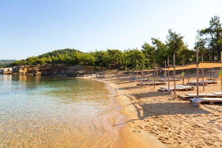 Beautiful secluded mediterranean beach. Banco de Imagens - 128572506