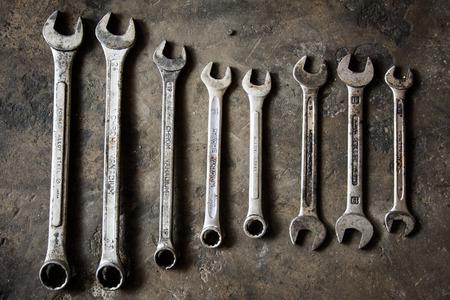 dirty car: Basic mechanic tools
