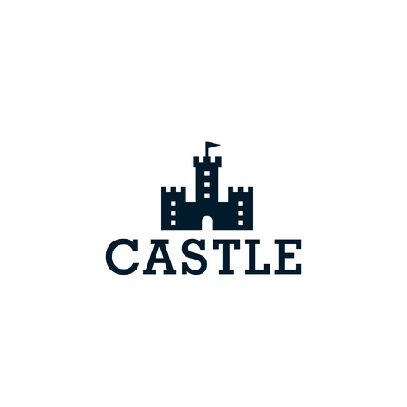Castle icon. Vector logo template