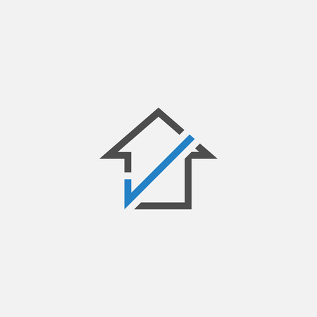 home check logo icon vector