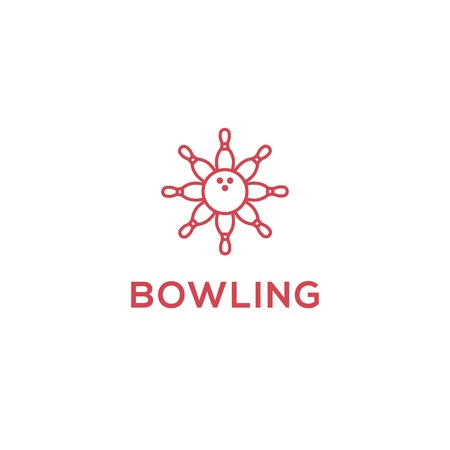 Bowling icon logo template