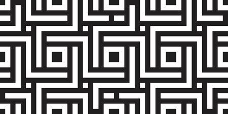 Seamless geometric pattern with striped black white background. Vector illusive background. Futuristic vibrant design. Vektorové ilustrace