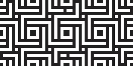 Seamless geometric pattern with striped black white background. Vector illusive background. Futuristic vibrant design. Illustration