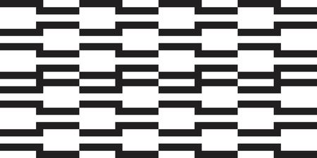 Seamless abstract pattern with striped black white background. Vector illusive background. Futuristic vibrant design.