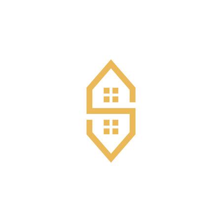 Letter S property home logo maze Logo