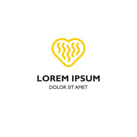 Noodle minnaar pictogrammalplaatje logo