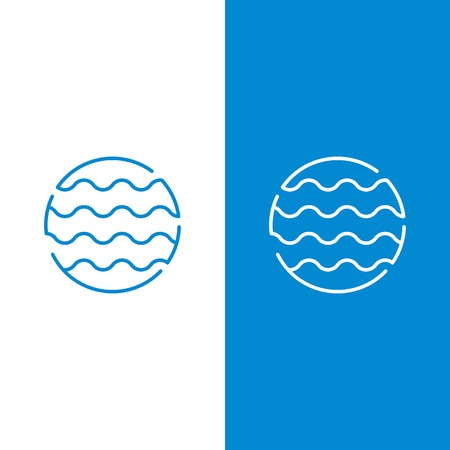 Connect wave circle vector icon template