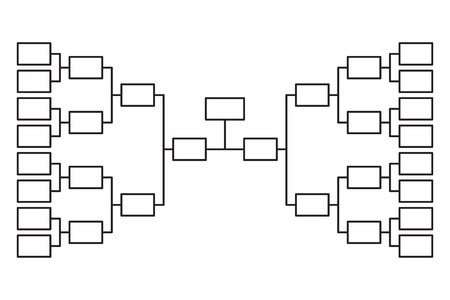 Tournament bracket 16 team icon template