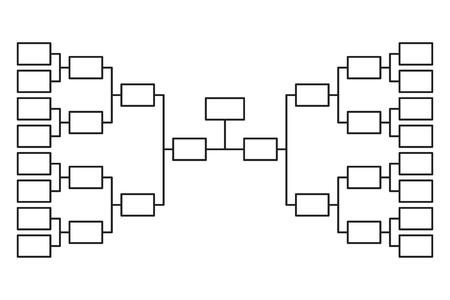 Turnier Bracket 16 Team Icon Vorlage