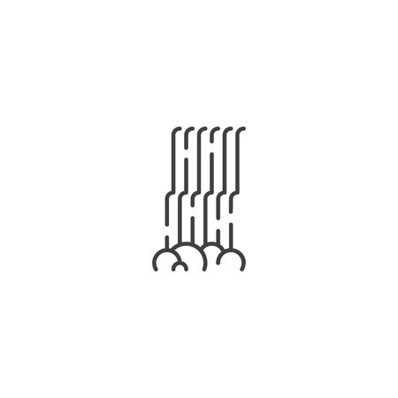 Waterfall line icon vector