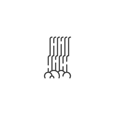 Waterfall line icon vector Zdjęcie Seryjne - 125340544