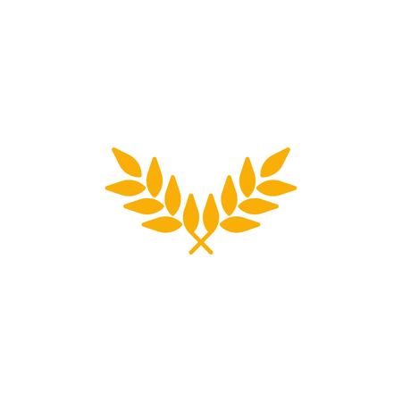 Wheat agriculture organic icon vector
