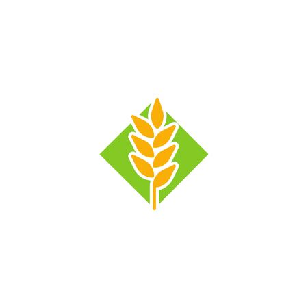 Wheat agriculture organic logo icon vector template  イラスト・ベクター素材