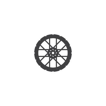 Bicycle wheel icon vector