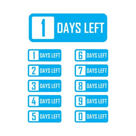 Number days left countdown vector template illustration Illustration