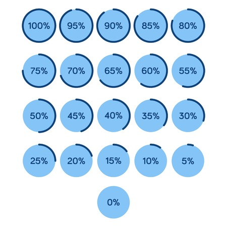 Loading bar, download process icon set Illustration