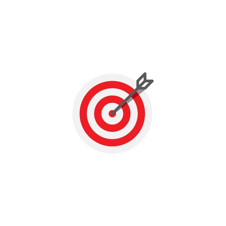 Target flat icon vector Vektorové ilustrace