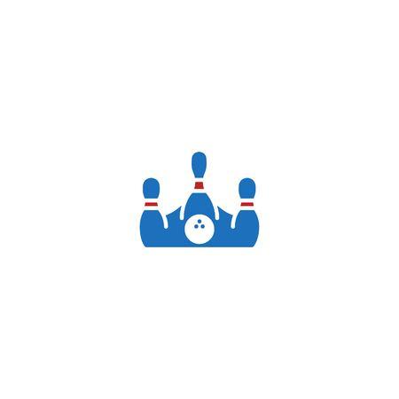 Bowling crown king logo icon template