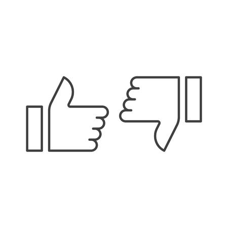 thumb up, like dislike icon vector