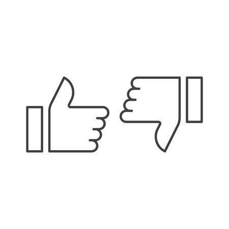 thumb up, like dislike icon vector