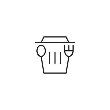 Junk food, trash food logo icon template