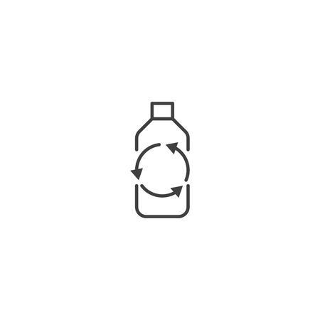 Recycle plastic bottle icon vector