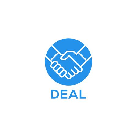 Handshake deal icon logo template