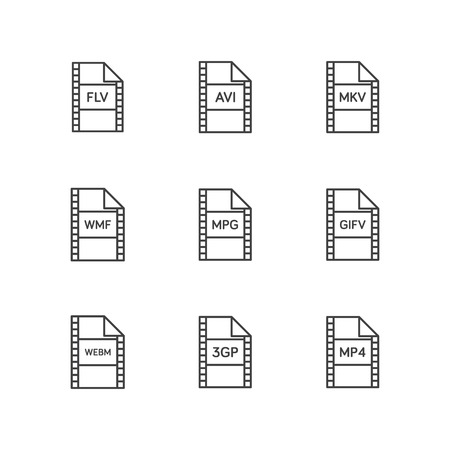 File format video icon vector
